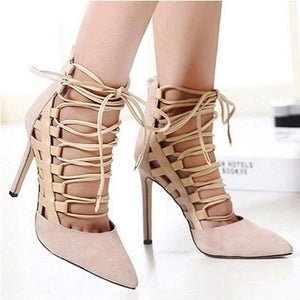 Plain Point Toe Stiletto Heels herhershoes