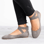 Newly Bandage Round Head Women's Flat Dancing Shoes herhershoes