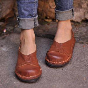 WOMEN SOFT PU FLAT HEEL SPRING/FALL LOAFERS herhershoes