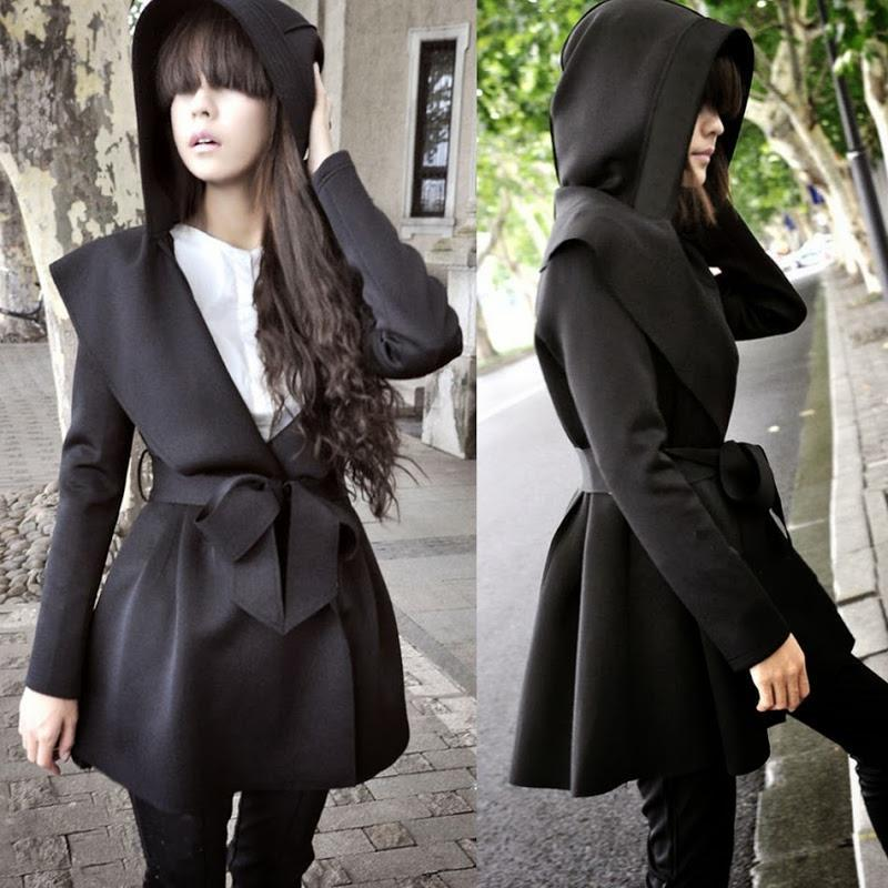 Asymmetric Hooded Jacket herhershoes