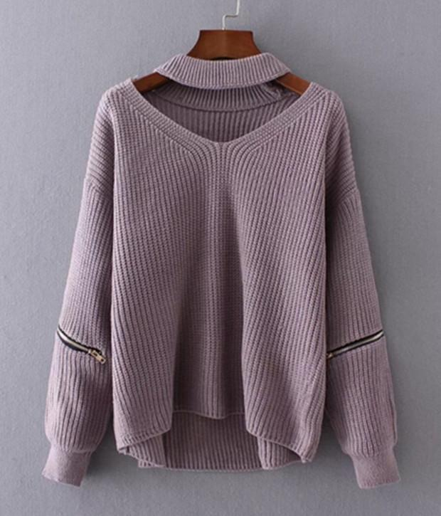 Chunky Knit Cut-Out Sweater herhershoes
