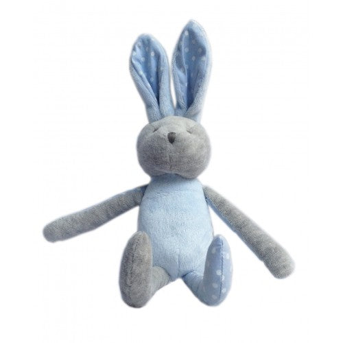 Rabbit Soft Toy Blue/Grey
