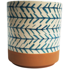 Planter Blue Arrow Terracotta