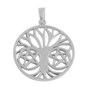 Tree of Life Pendant 3.5cm Choker Black