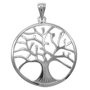 Tree of Life Pendant 4cm Choker Black