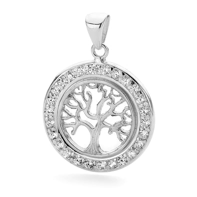 Tree of Life Pendant on Silver 40cm Chain