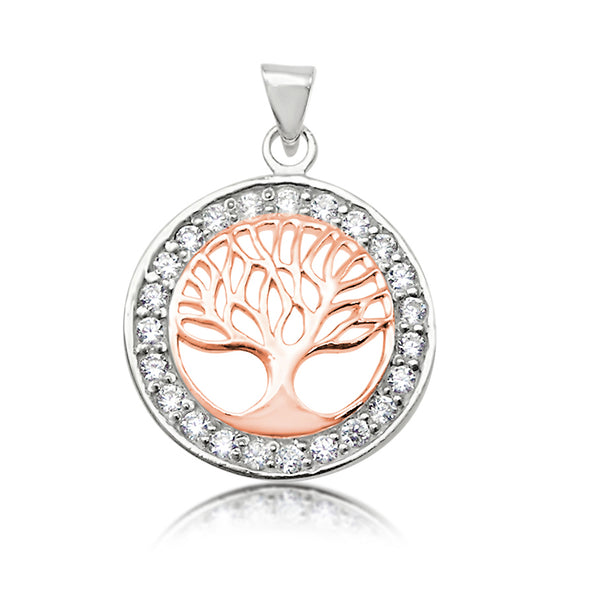 Tree of Life Pendant on Rose Gold 45cm Chain