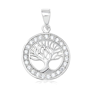 Tree of Life Pendant on Silver 45cm Chain