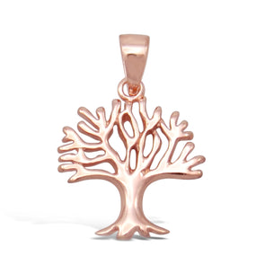 Rose Gold Pit Tree 2cm Pendant Only