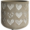 Planter Love Heart Concrete 13cm