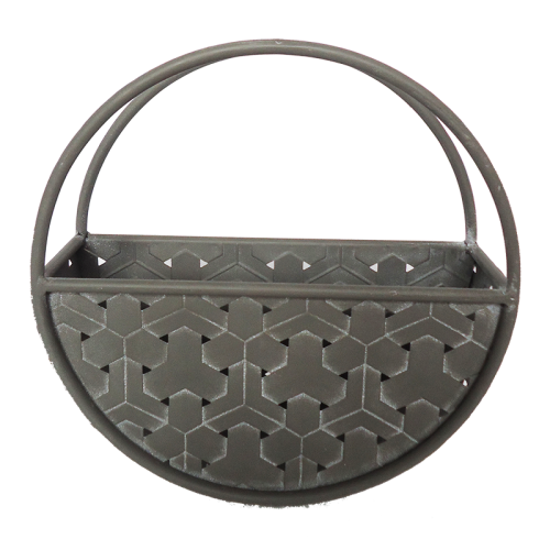 Wall Planter Full Arc Metal Weave Sm