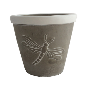 Planter Concrete Dragonfly
