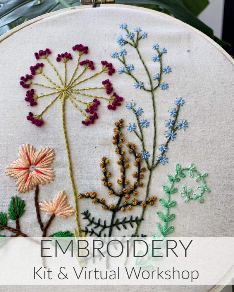 Embroidery Kit + Virtual Workshop