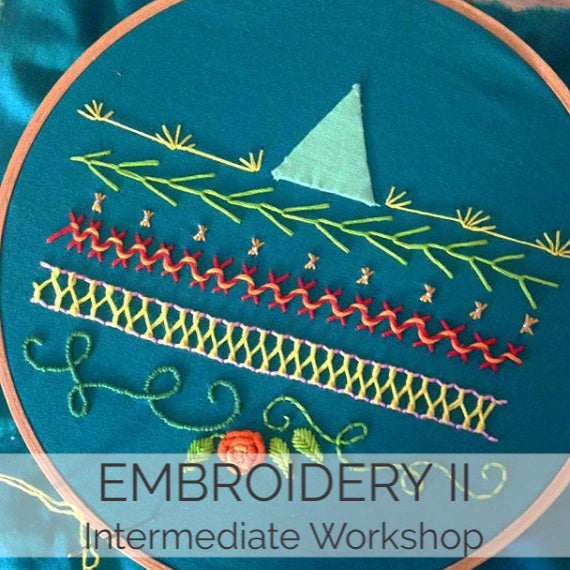 Embroidery II // 1 Day // Sept 28
