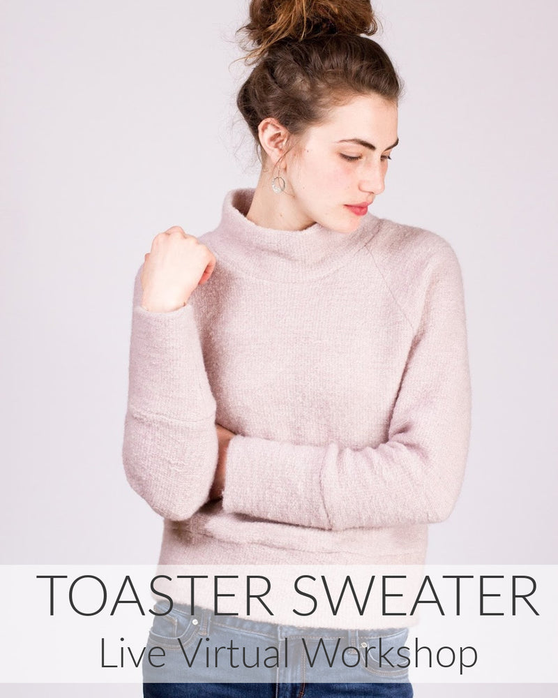 Toaster Sweater Live Virtual Workshop // Starts Oct 27