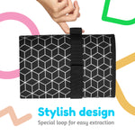 Toolik Baby Diaper Changing Pad, Portable and Foldable Large Waterproof Mat, Black with 3D Cube