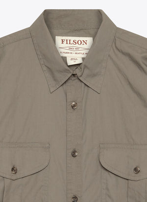 Short Sleave Feather Cloth Shirt - Light Olive