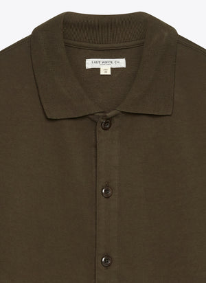 Lady White Co. Placket Polo - Midnight Green - The Great Divide