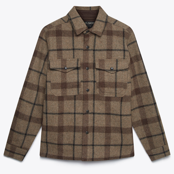 Filson Mackinaw Jac Shirt - Taupe / Brown / Black - The Great Divide
