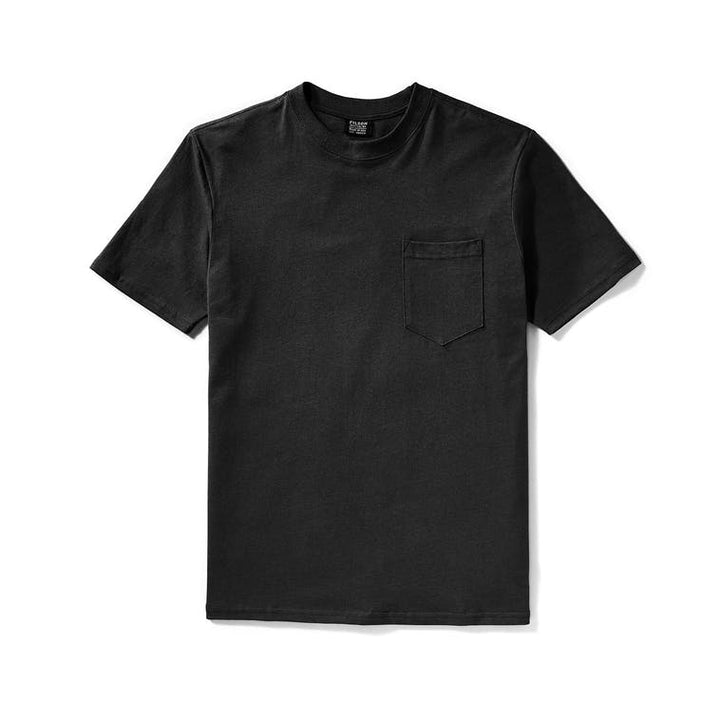 Filson Outfitter Solid Pocket T-Shirt- Faded Black - The Great Divide