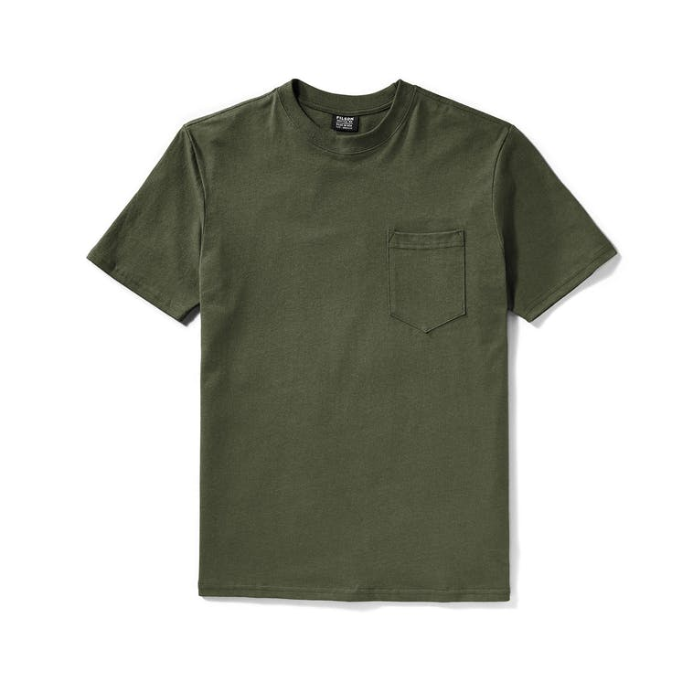 Filson Outfitter Solid Pocket T-Shirt - Otter Green - The Great Divide