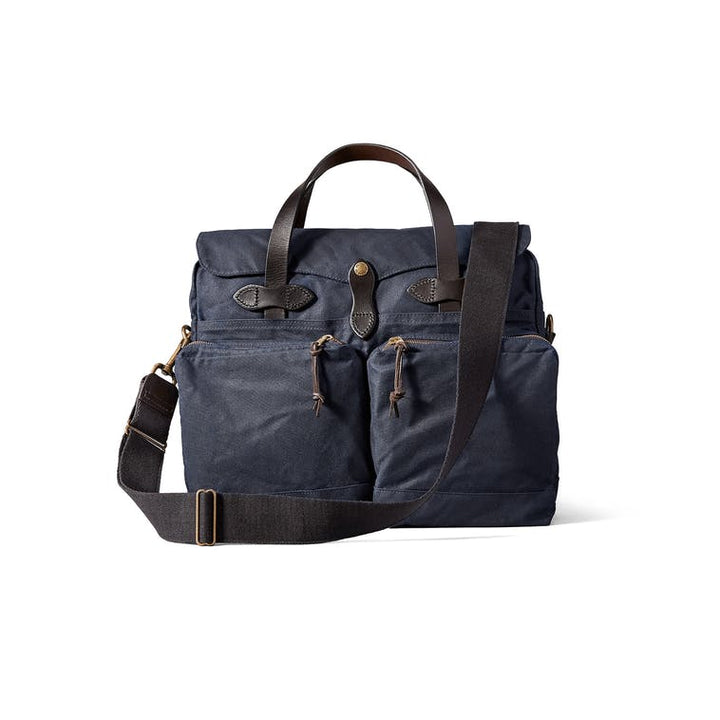 Filson 24 Hour Tin Cloth Briefcase - Navy - The Great Divide