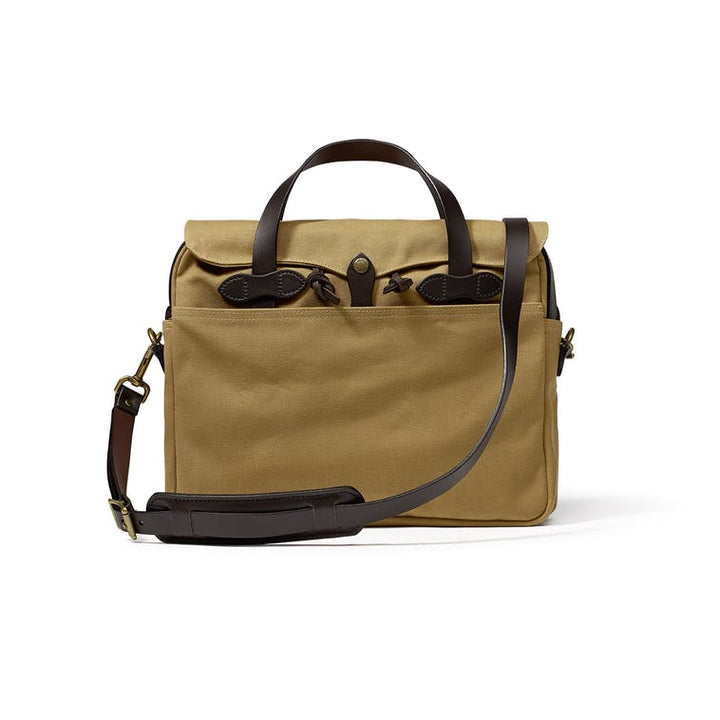 Filson Rugged Twill Original Briefcase - Tan - The Great Divide