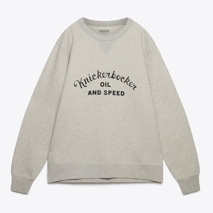 Oil & Speed Crew Neck Fleece - Grey