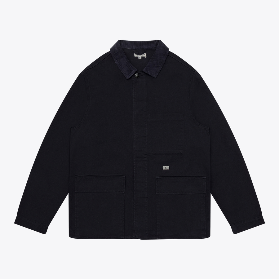 TWILL FIELD JACKET - DARK NAVY