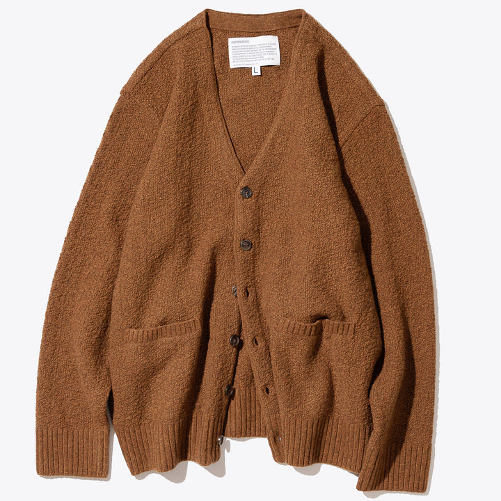 Mohair Knit Cardigan - Brick