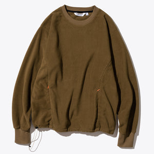 Utility Fleece LS Tee - Brown