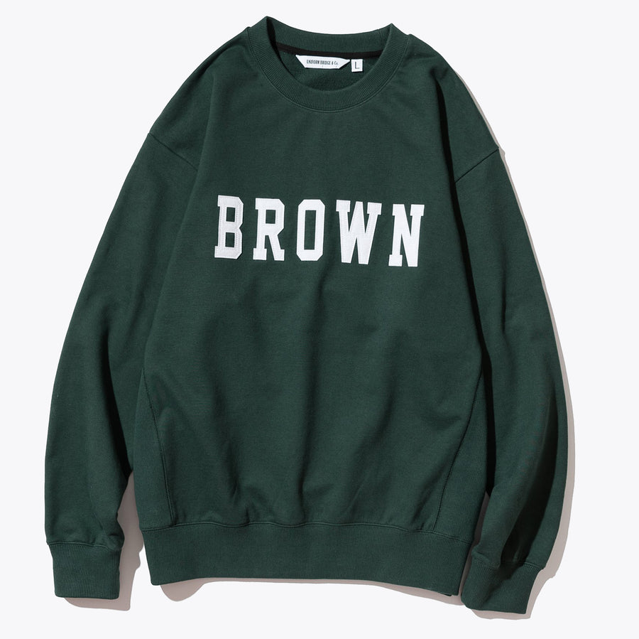 VTG Brown Logo Sweatshirt - Green