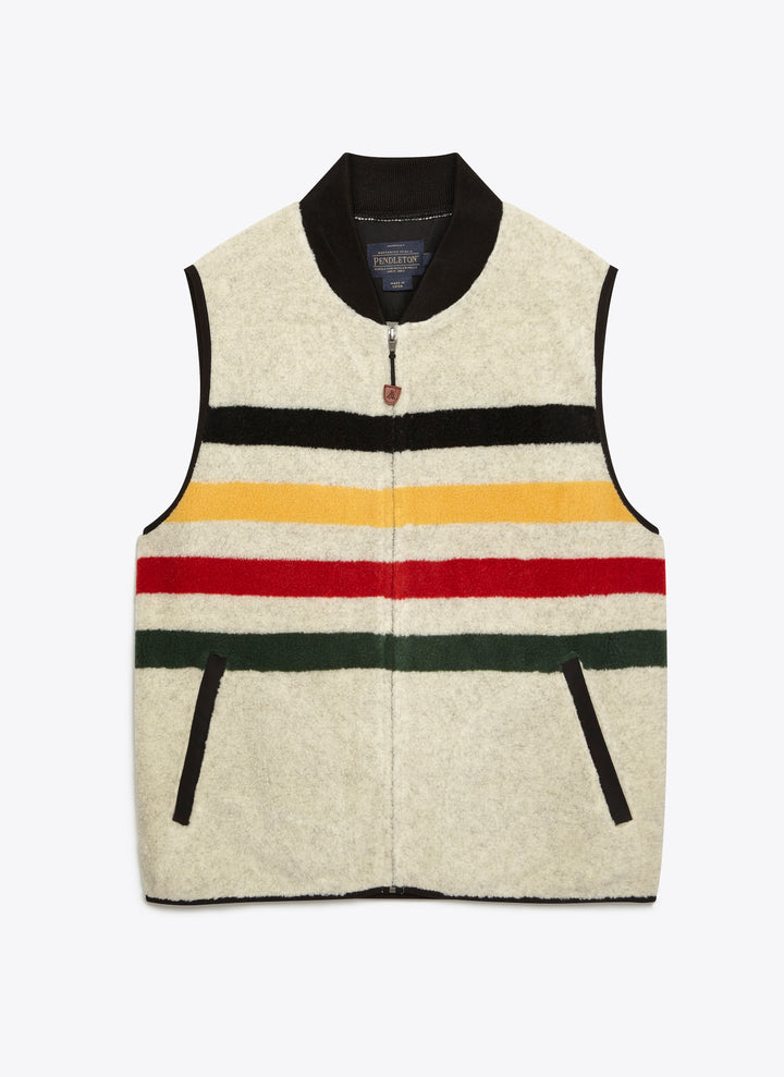 Glacier Stripe Fleece Vest
