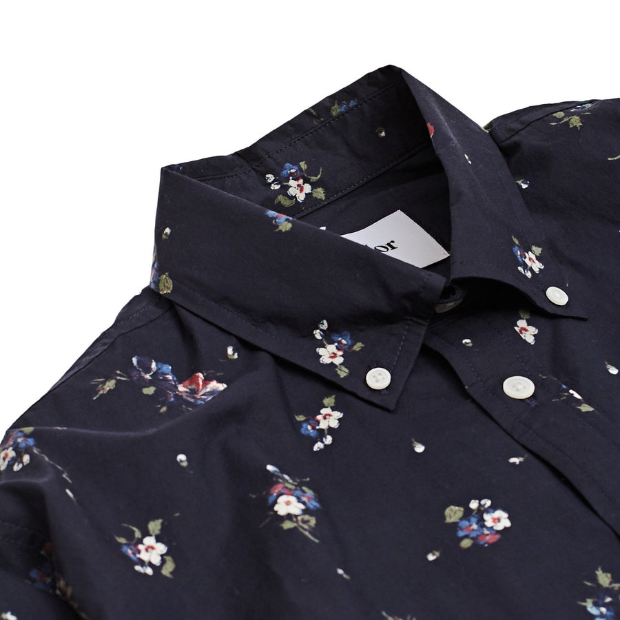Black Floral Broadcloth Shirt