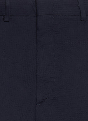Gitman Vintage Navy Seersucker Shorts - The Great Divide