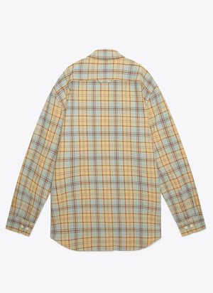 Beach Shack Twill Shirt - Vintage Blue Surf Plaid