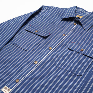 Milton Shirt - Indigo Stripe Selvedge