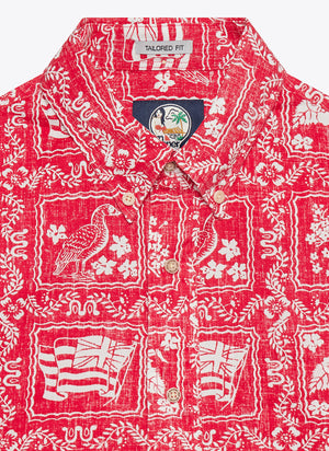 Lahaina Sailor Tailored Shirt - Red