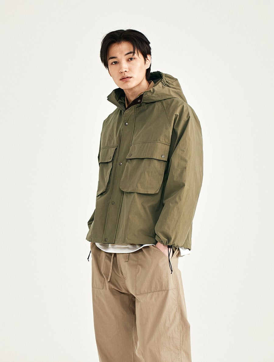 Hooded Short Parka - D Beige