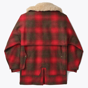 Lined Wool Packer Coat - Red/Green/Brown Plaid