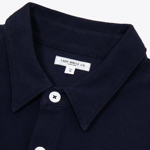 Pique Pocket Polo - Navy