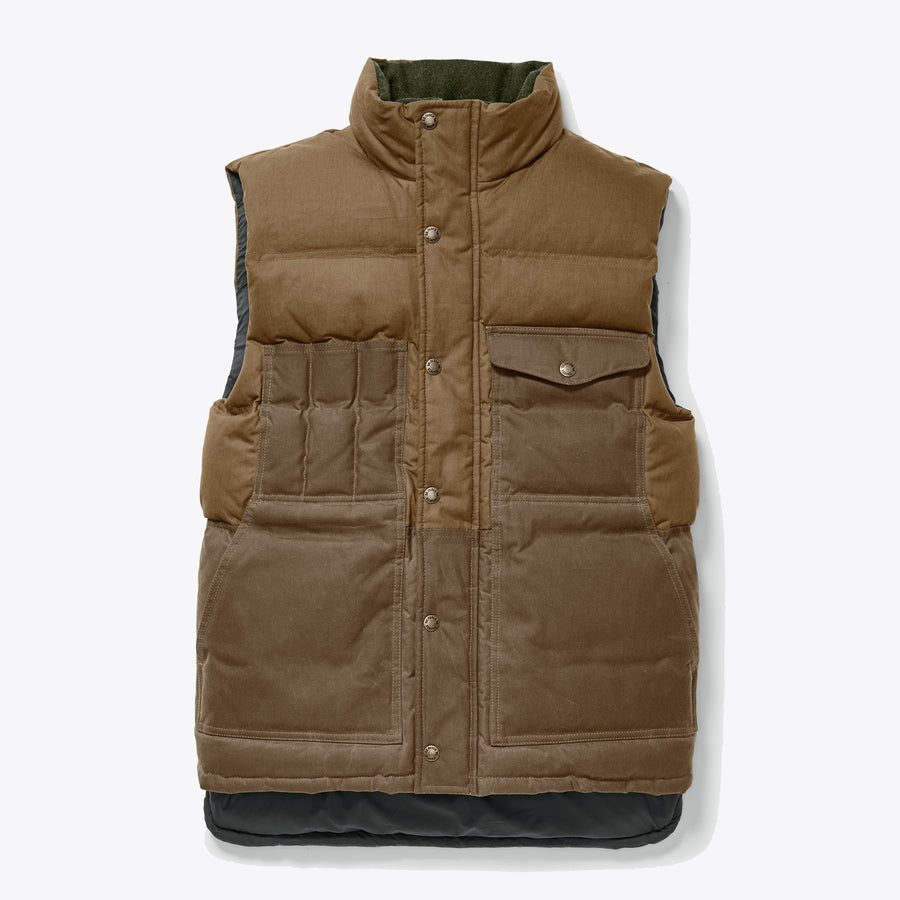 DOWN CRUISER VEST - DARK TAN