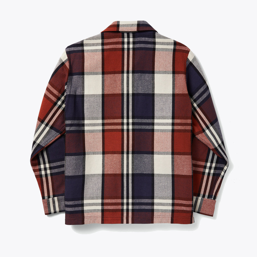 Deer Island Jac-Shirt - Rust / Navy / Cream