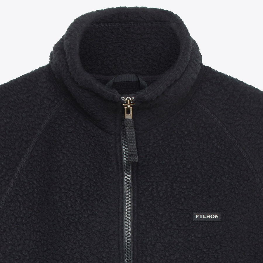 Filson Sherpa Fleece Jacket - Black - The Great Divide