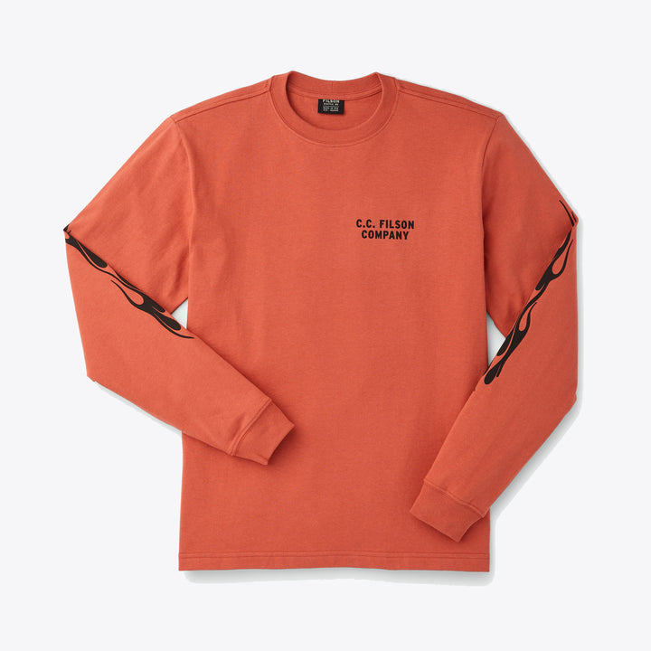 Smokey Bear Long Sleeve Tee - Flame