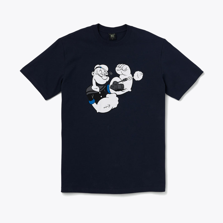 Popeye Short−Sleeve T−Shirt - Dark Navy