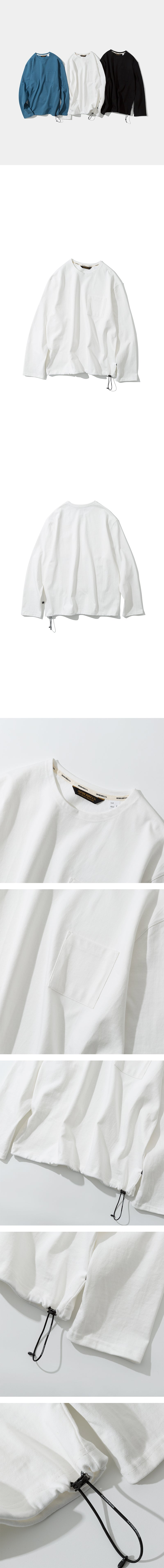 Pocket Long Sleeve Tee - Off White