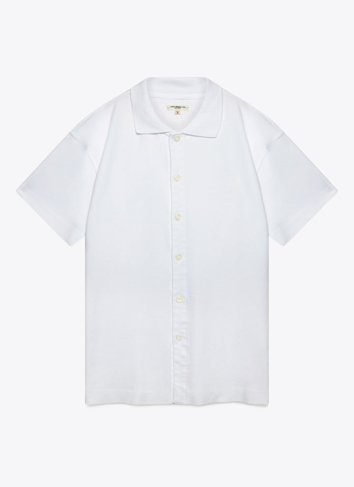 Lady White Co. Placket Polo - White - The Great Divide
