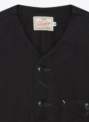 Short Sleeve Utility Jacket - Black