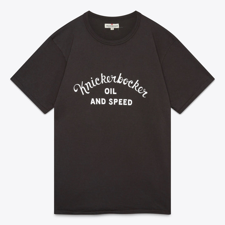 Oil & Speed Tube Tee - Coal Black